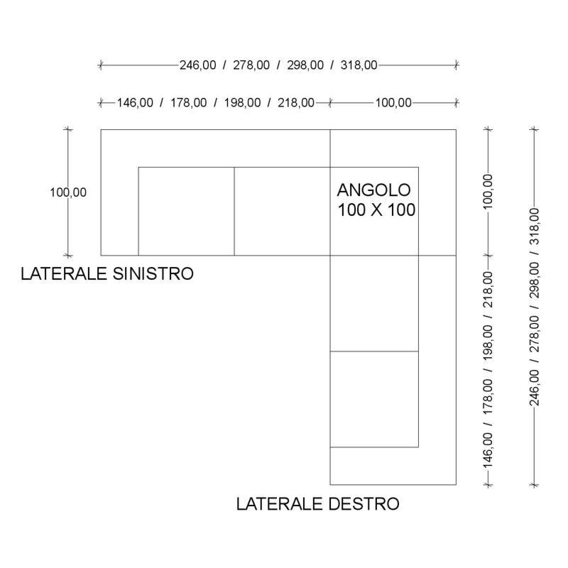 Divano Angolo Misure: Villa f lli salotti cesano maderno divano betty.