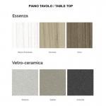Tavolo Astra vetro-ceramica 140x90